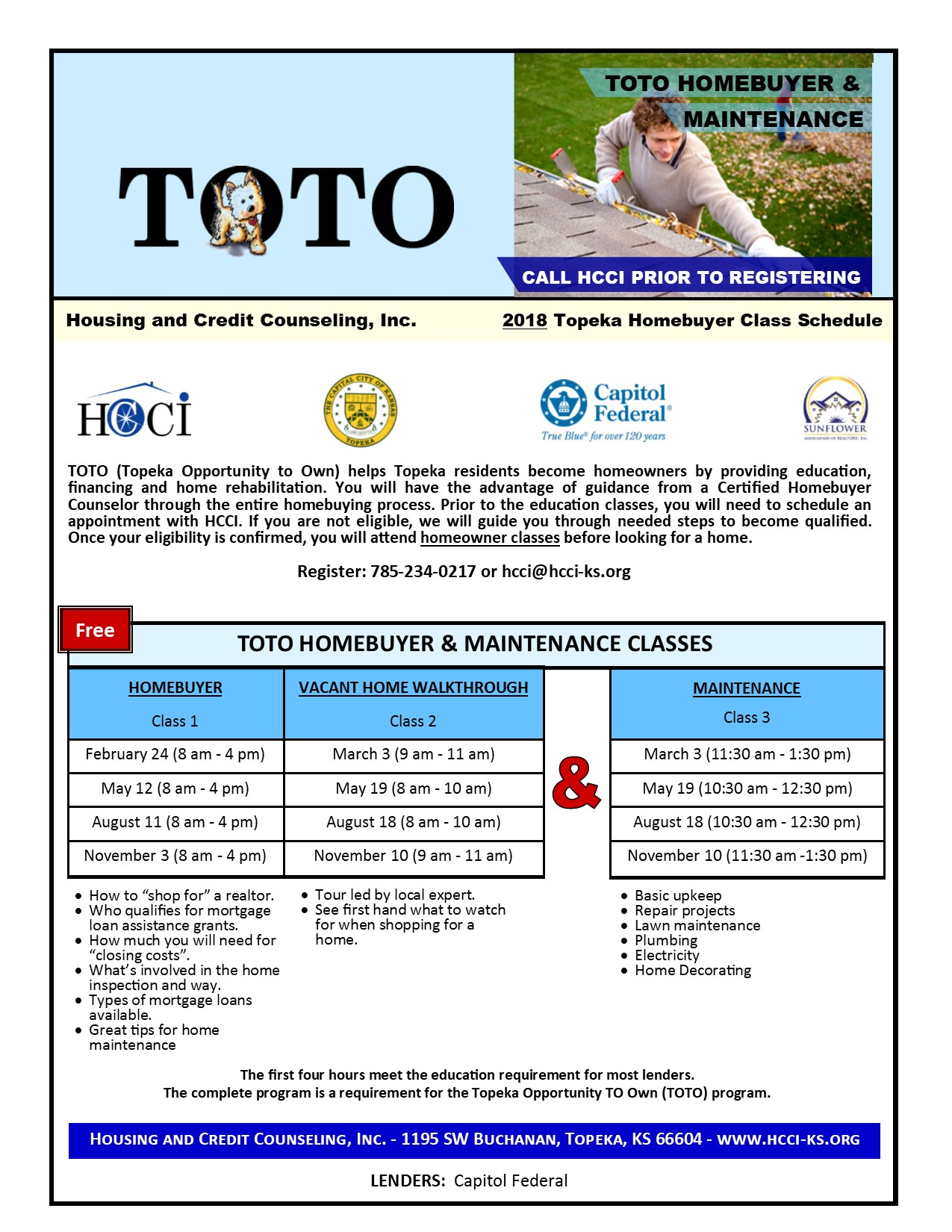 TOTO Homebuyer Classes – Housing & Credit Counseling, Inc.